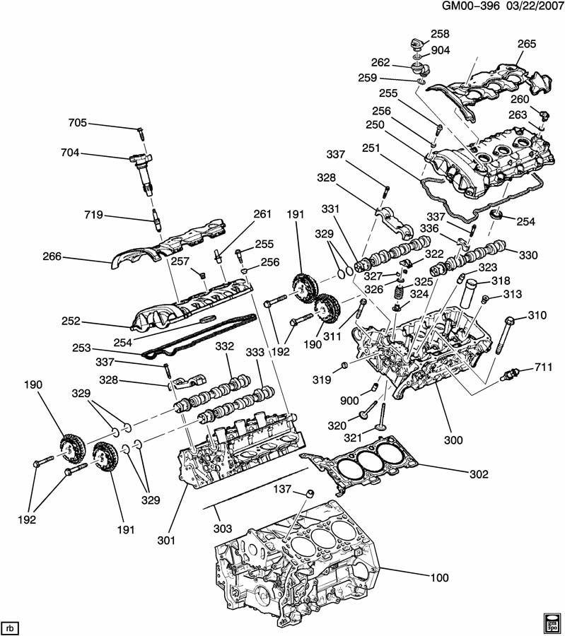 2007 2014 Gm Right Rh Head Gasket V6 Engines New Oem 12634479