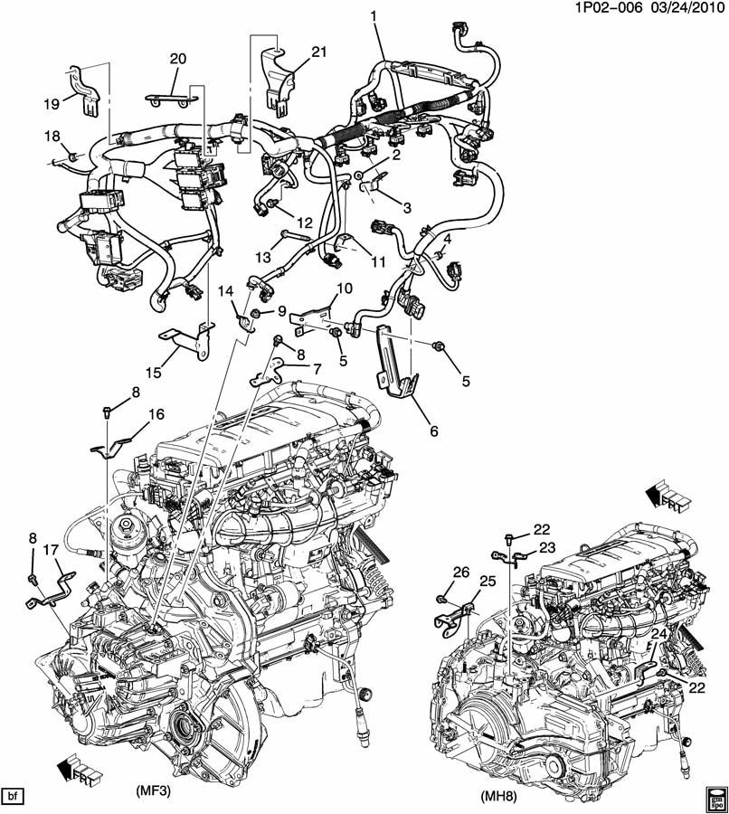 2011 Chevrolet Cruze 14l Turbo 6spd Auto Engine Wiring Harness New 13359193: GM Engine Wiring Diagram At Jornalmilenio.com