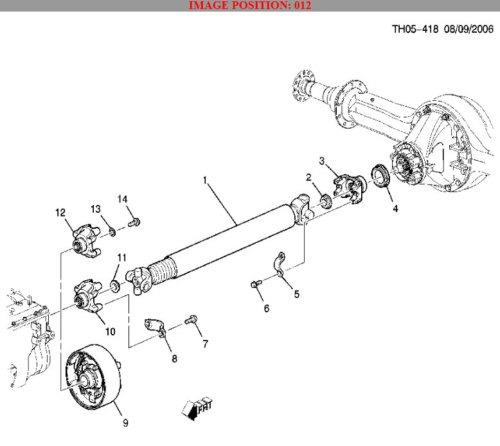 transmission yoke universal joint topkick kodiak new oem