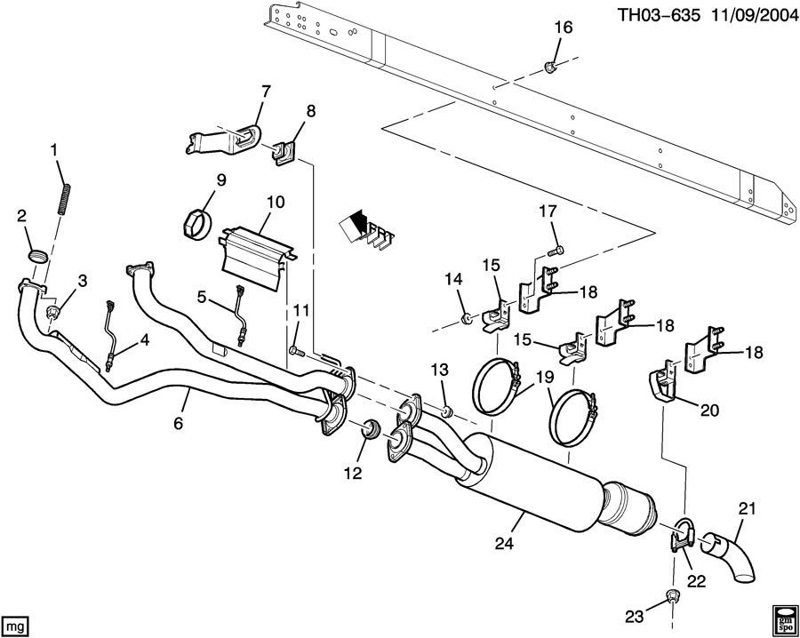 Gmc Topkick Chevy Kodiak Exhaust Ring Seal Gasket New Oem