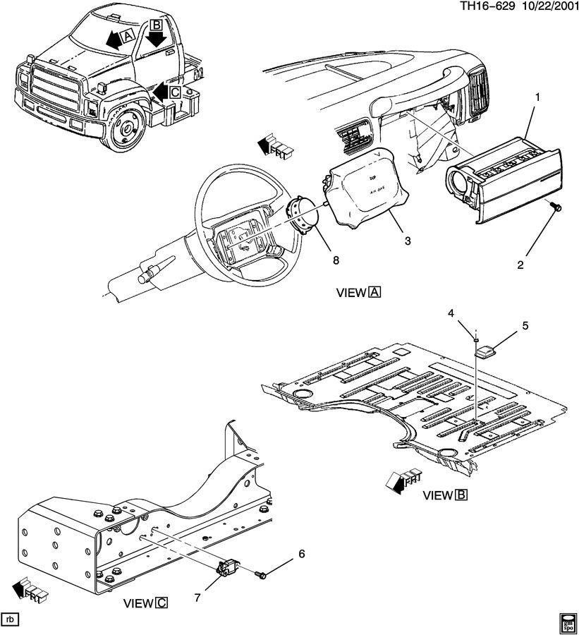 0309 Topkickkodiak C4500c8500 Airbag Contrl Module 12212970 Rhfactoryoemparts: 2007 Saturn Vue Airbag Module Location At Gmaili.net