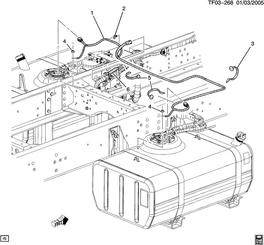 2004-09 topkick kodiak t6500-t8500 dual tank fuel wire ... 2004 gmc c5500 wiring diagram