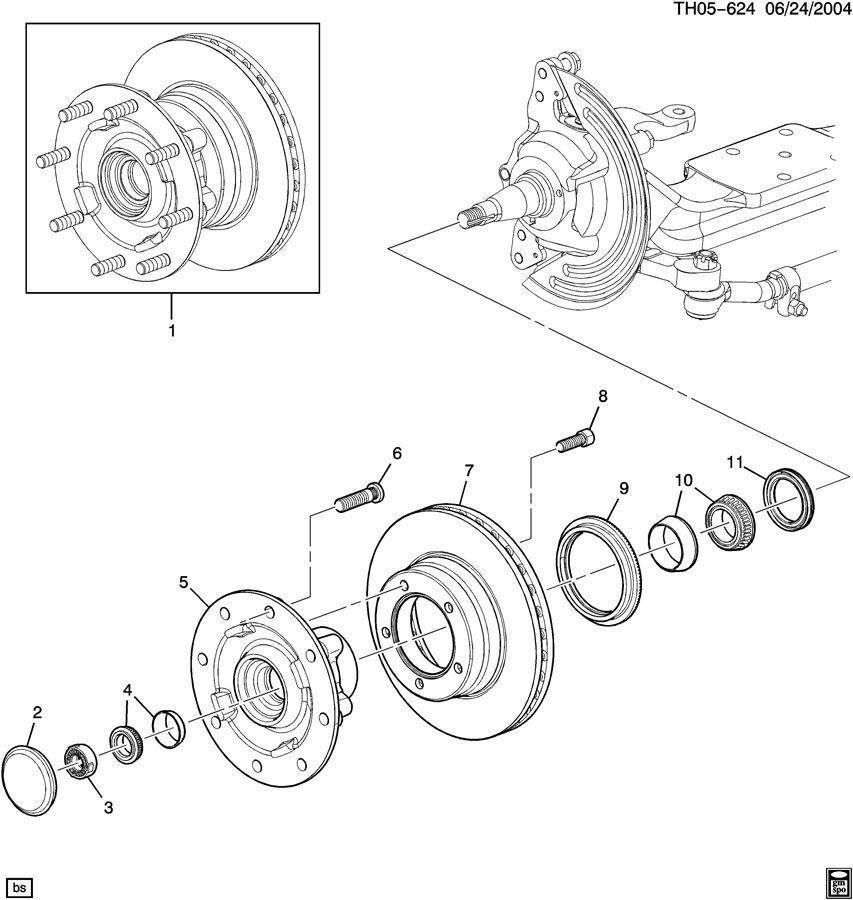 For 2003-2009 Chevrolet C4500 Kodiak Wheel Bearing Rear Outer 41947ZT 2004 2005