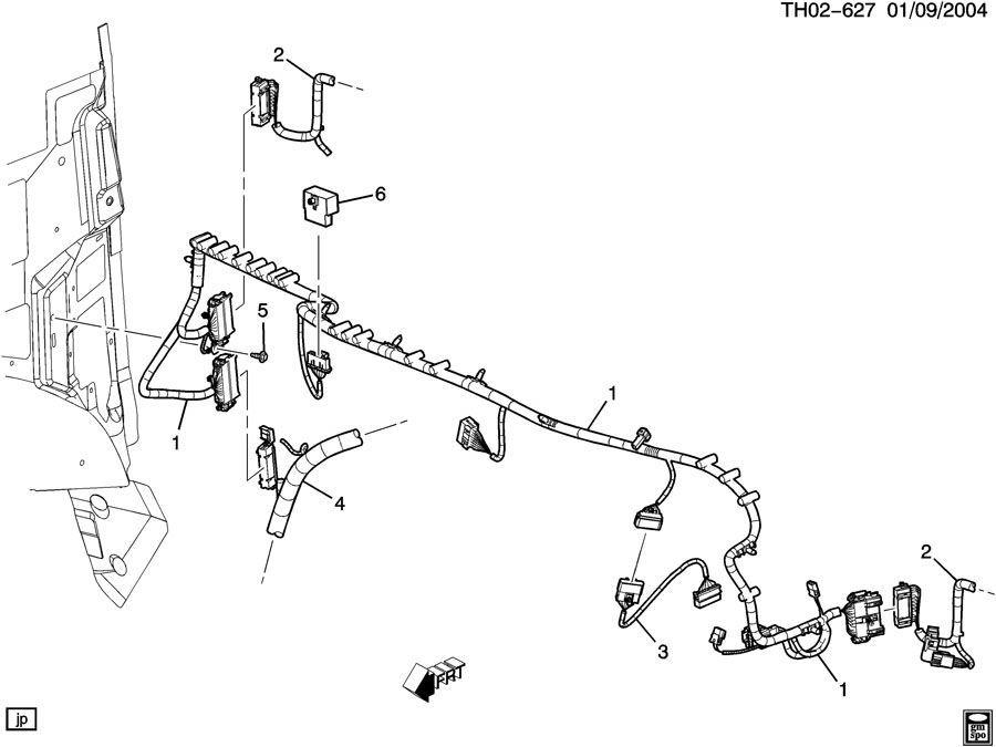 2003 Chevy Kodiak Harness W  Brake Switch
