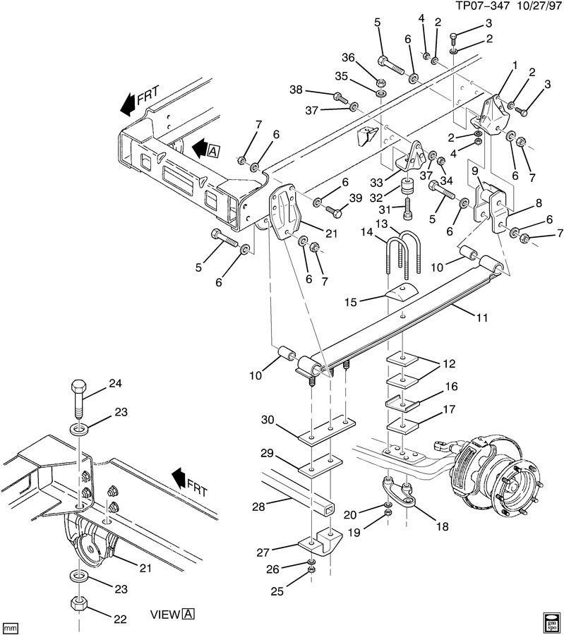 1990 chevy kodiak front rear suspension