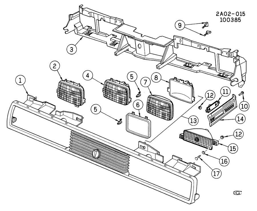 1982-2014 GM Headlight Adjustment Screw Clip Bracket ...