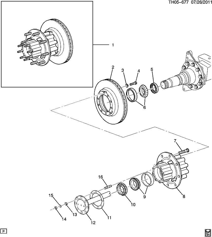 2003 kodiak rear axle spindle nut 2 5 u0026quot new oem