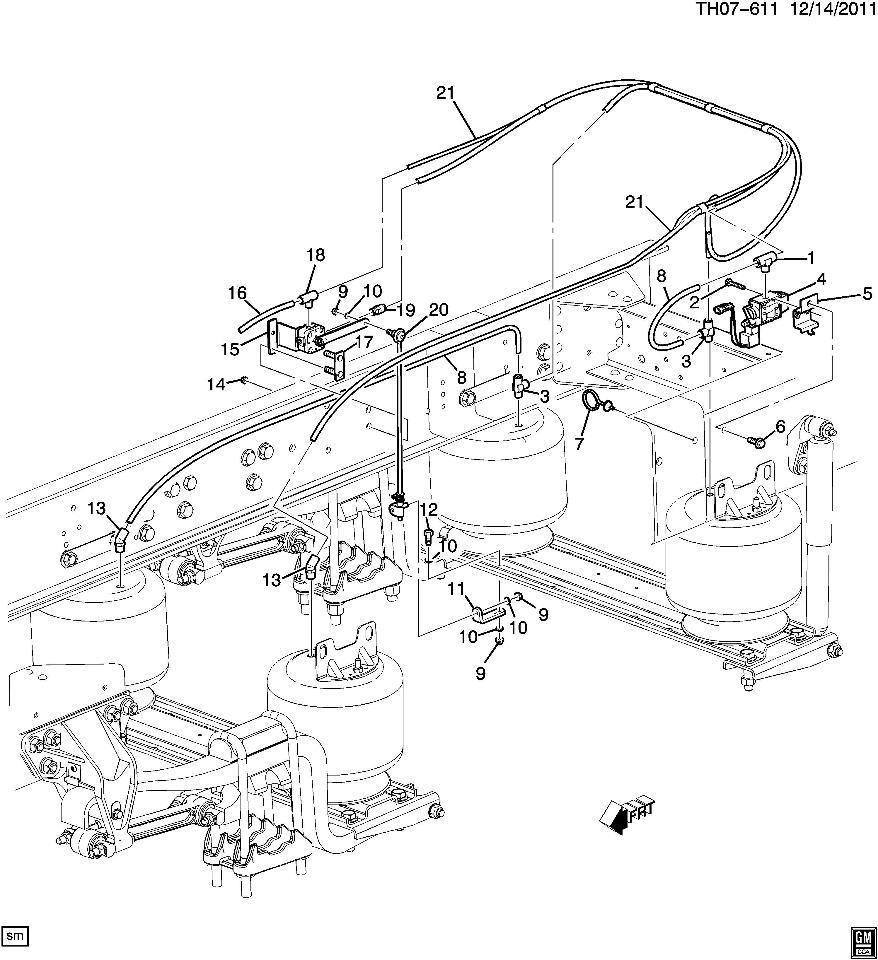 2008 09 topkick kodiak c8500 rear air hose supply lines. Black Bedroom Furniture Sets. Home Design Ideas
