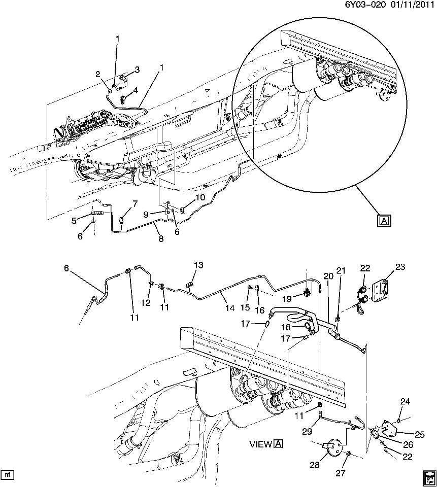 2009 Cadillac Xlr Camshaft: 2008-2009 Cadillac XLR Vacuum Hose For Fuel Intake