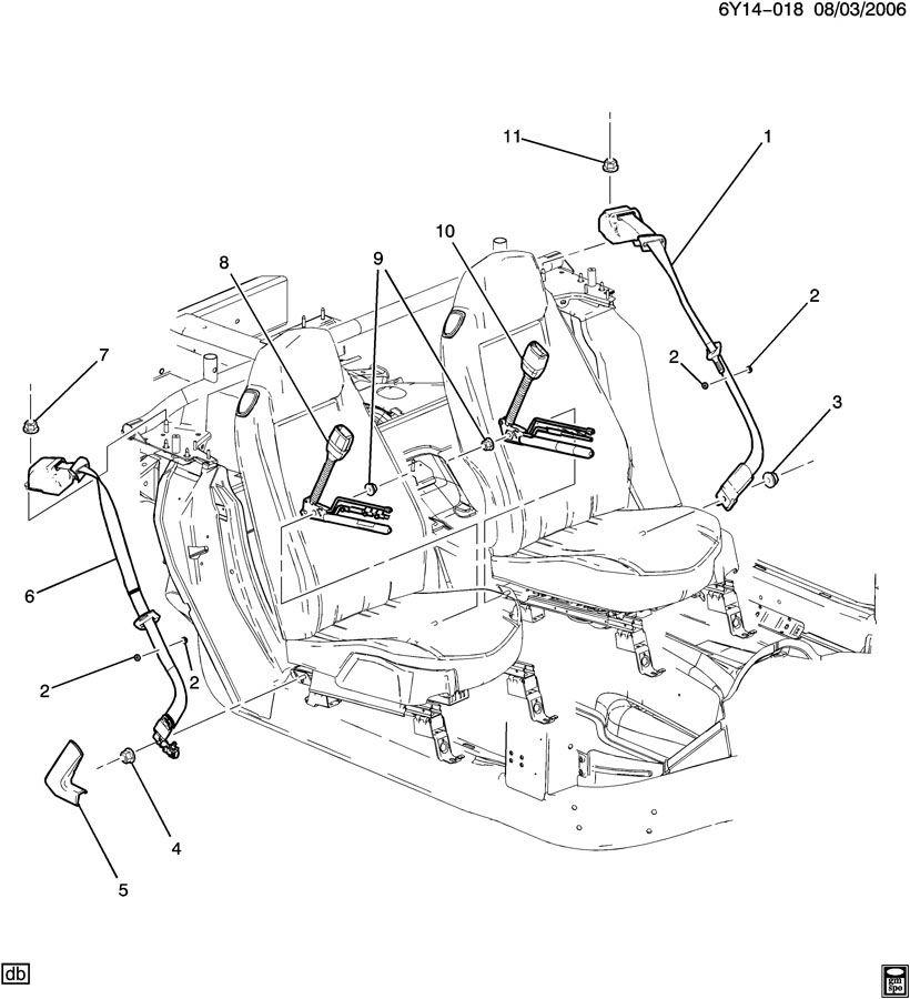 2009 Cadillac Xlr Camshaft: 2007-2009 Cadillac XLR Cashmere Color Seatbelt Assembly