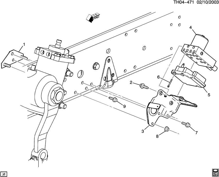 2003-2009 topkick kodiak ebcm brake control module bracket abs new oem  88935858