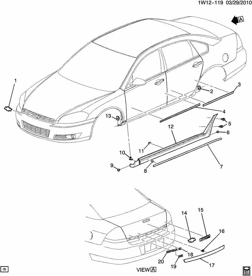 2006-2014 Chevy Impala Rear Trunk Trim Applique White New OEM 19179925  19177502 | Factory OEM PartsFactory OEM Parts