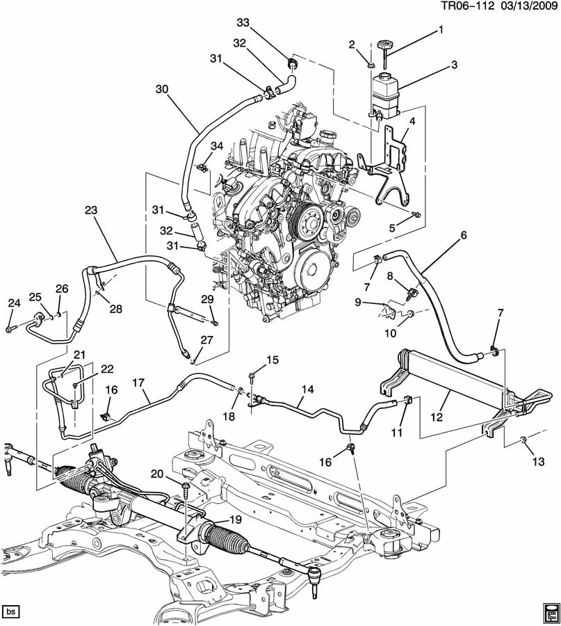 Vacuum Diagram Further Cadillac Power Steering Pump Diagram On Chevy