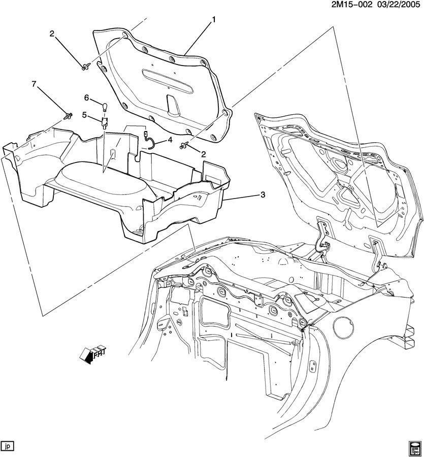 2007   2010    Saturn       Sky    Rear Compartment Bottom Carpet Liner Black Ebony 20782873   Factory OEM Parts