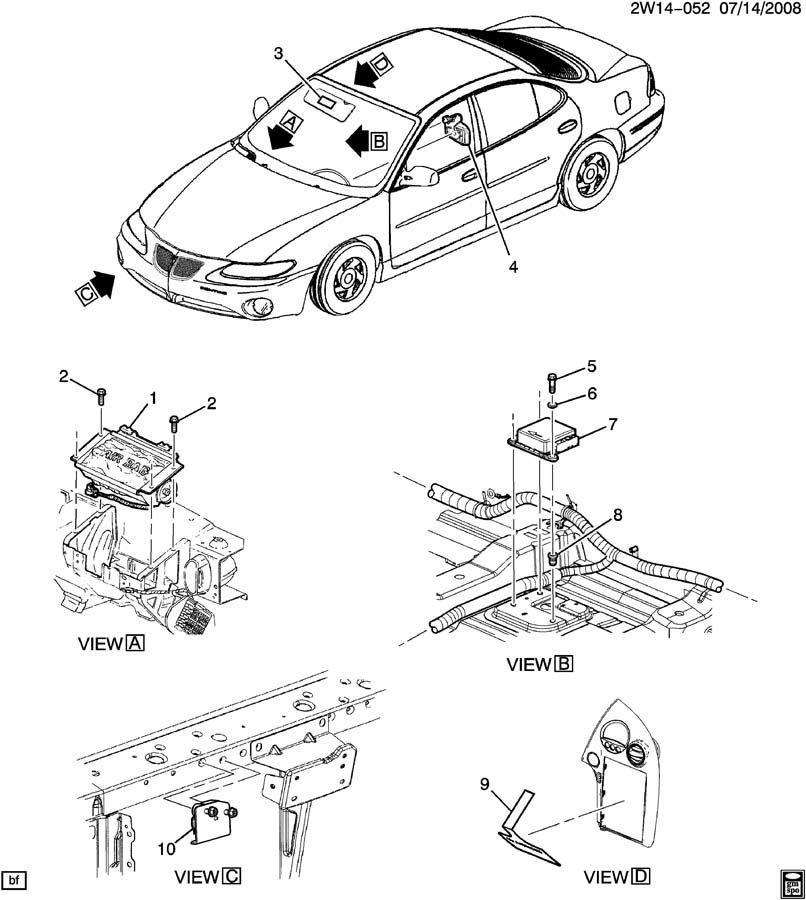 2006 2008 Pontiac Grand Prix Front Airbag Air Bag Sensor