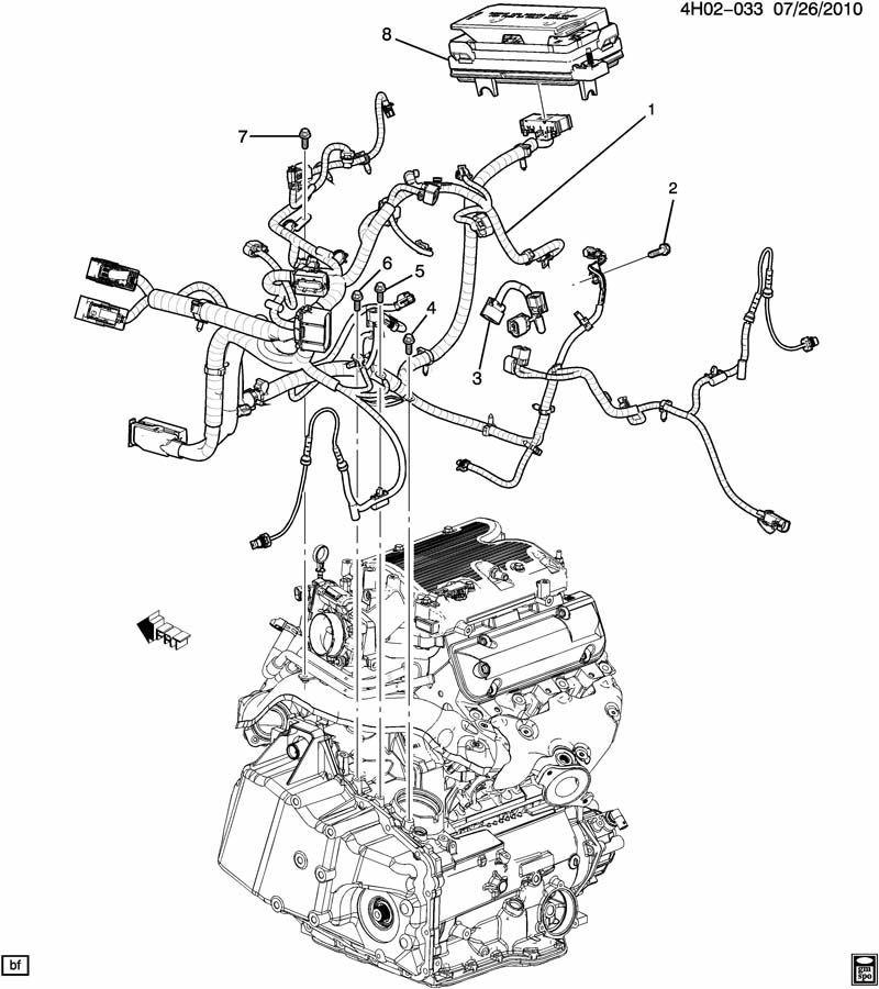 2011 buick lucerne complete engine wiring harness 3 9l v6