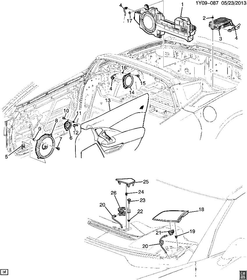 2015 chevrolet corvette c7 front lh tweeter speaker grille