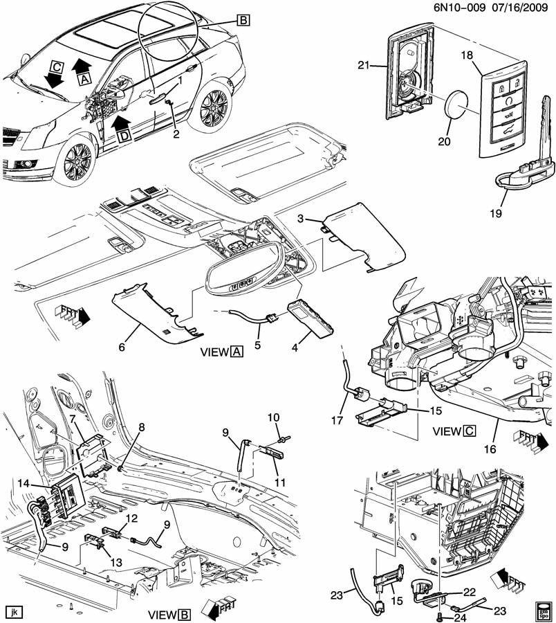 2013 Cadillac Srx >> 2010-2014 Cadillac SRX Key Fob Transmitter Remote New Keyless OEM 22865375 | Factory OEM Parts