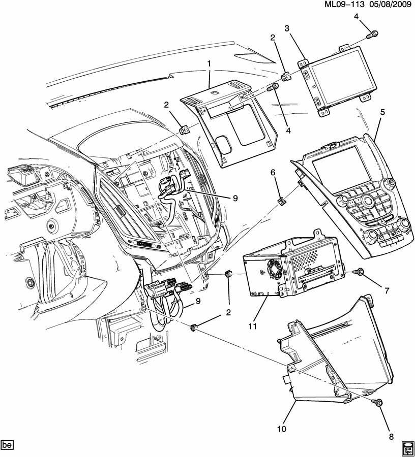 2013 Chevy Cruze Radio Wiring Diagram: Cruze Equinox Terrain Regal Verano AM/FM/XM Radio/MP3