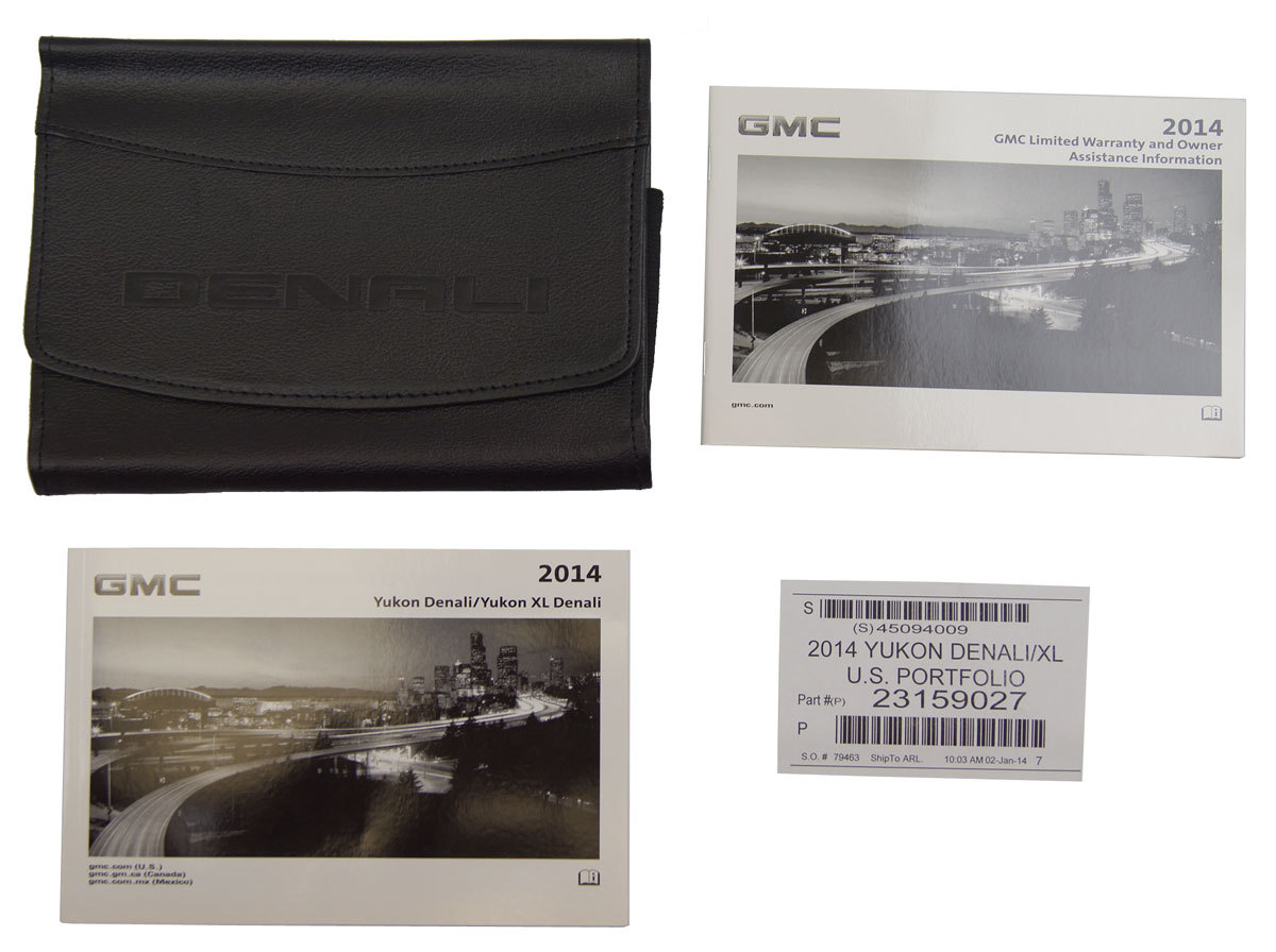 2014 GMC Yukon Denali & Yukon XL Denali Owners Manual Booklet & Leather ...