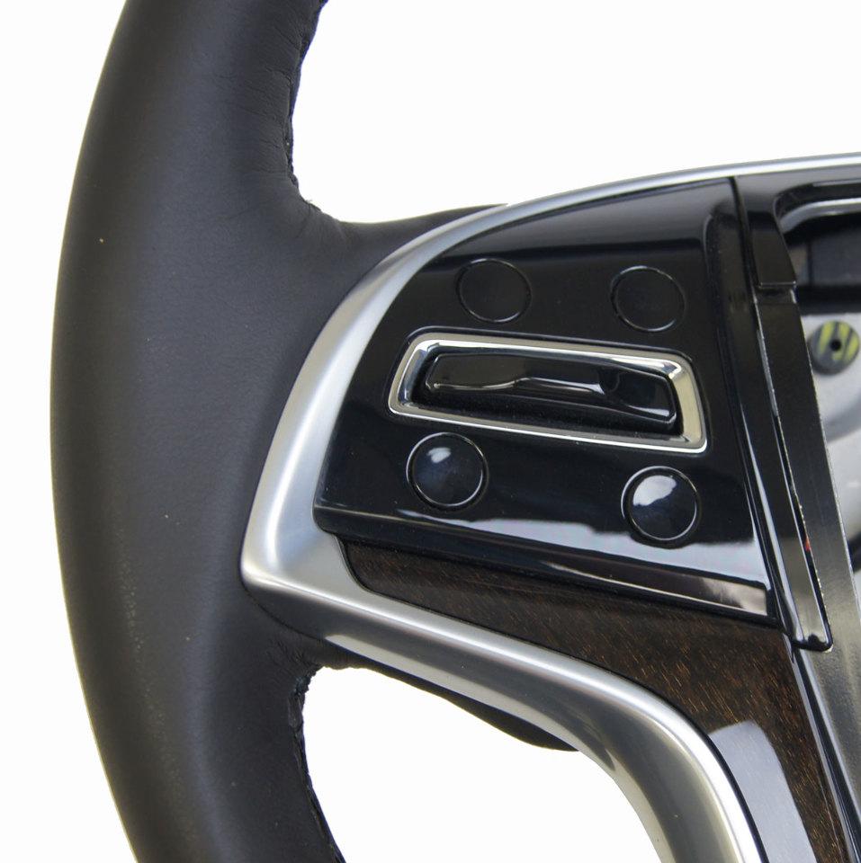 2013-2014 Cadillac XTS Steering Wheel Black Leather W