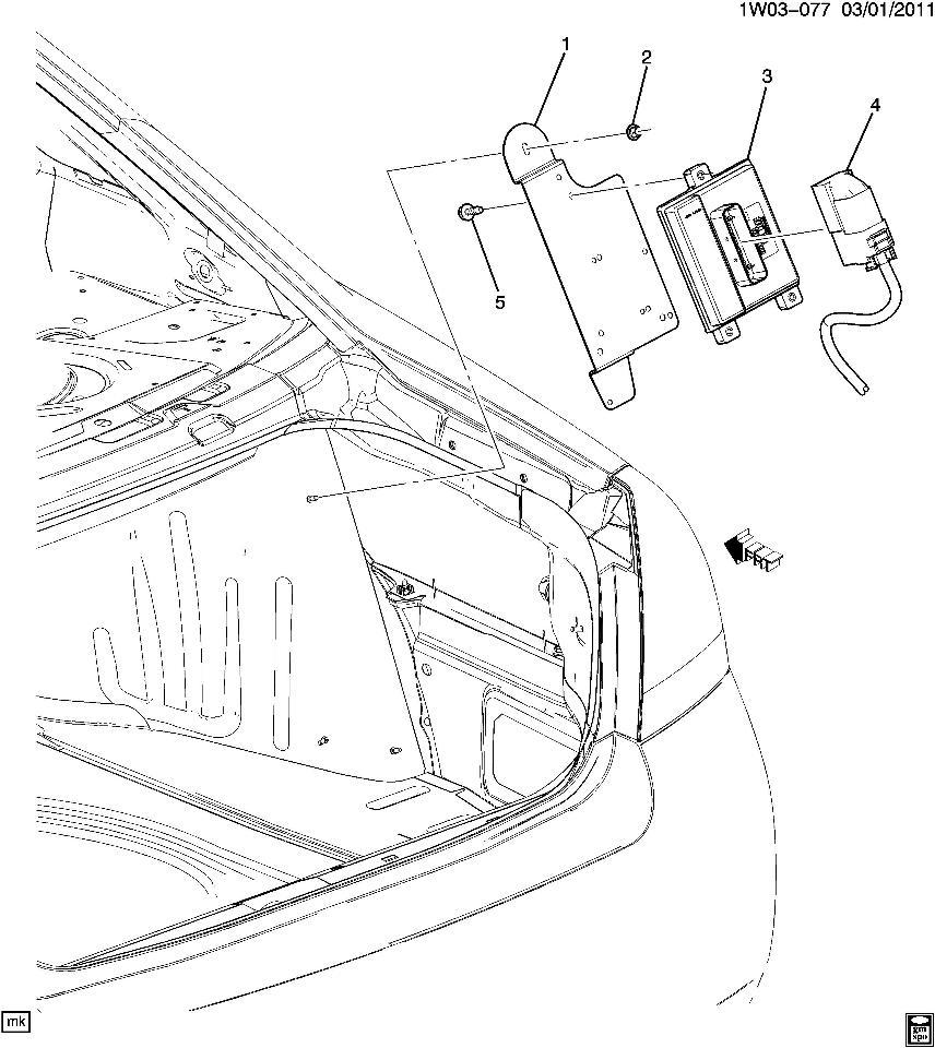2006-2014 Chevrolet Impala Fuel Pump Control Module W/Bracket New OEM  23345634