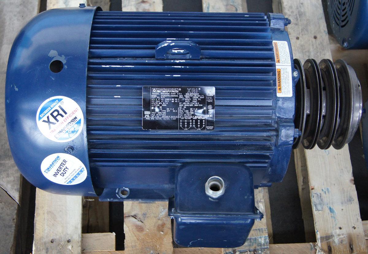 Marathon Electric Pump Motor 3 Phase Wiring Diagram Xri 15hp 230 460v 1775rpm Used 254ttfl16026
