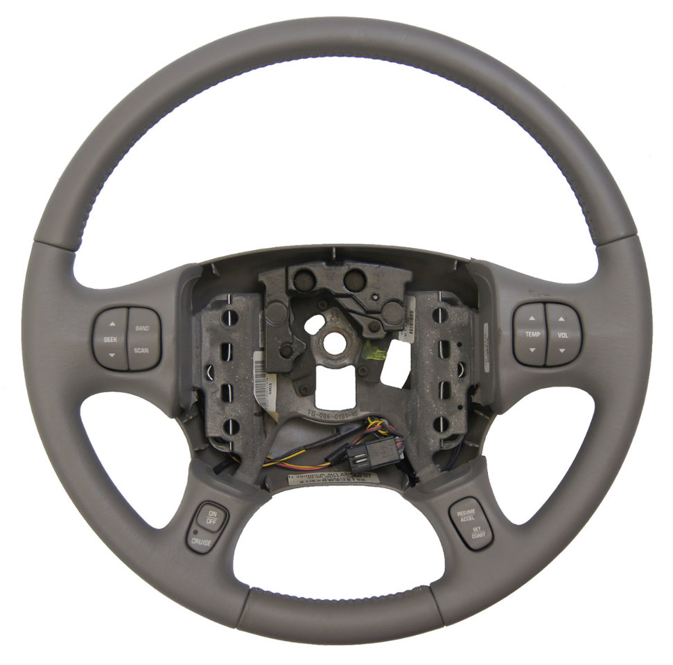 2000-2005 buick lesabre steering wheel med grey leather new  w/cruise/audio/temp · «