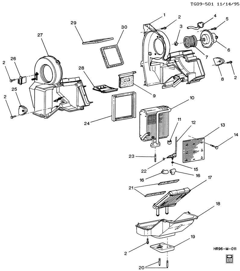 Gmc Savana Chevy Express Hvac Heater Ac Core Box Assembly 25781939
