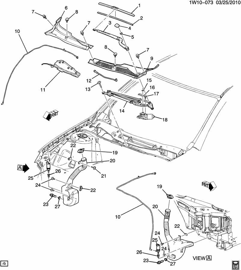2006 14 Chevy Impala Windshield Wiper Motor Arm Assy New Oem 25790964 19120737 Factory Oem Parts