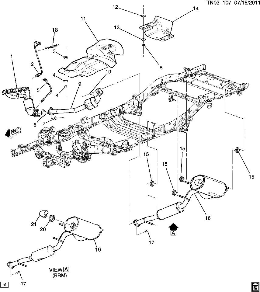 Hummer H3 Exhaust System Diagram Electrical Wiring Diagrams 2007 2018 Muffler W Resonator New Oem Kia Sedona