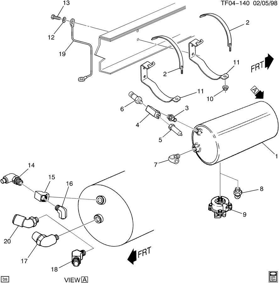 90 09 topkick kodiak t c6500 t c8500 low brake pressure switch 25793291 15684974 factory oem parts. Black Bedroom Furniture Sets. Home Design Ideas