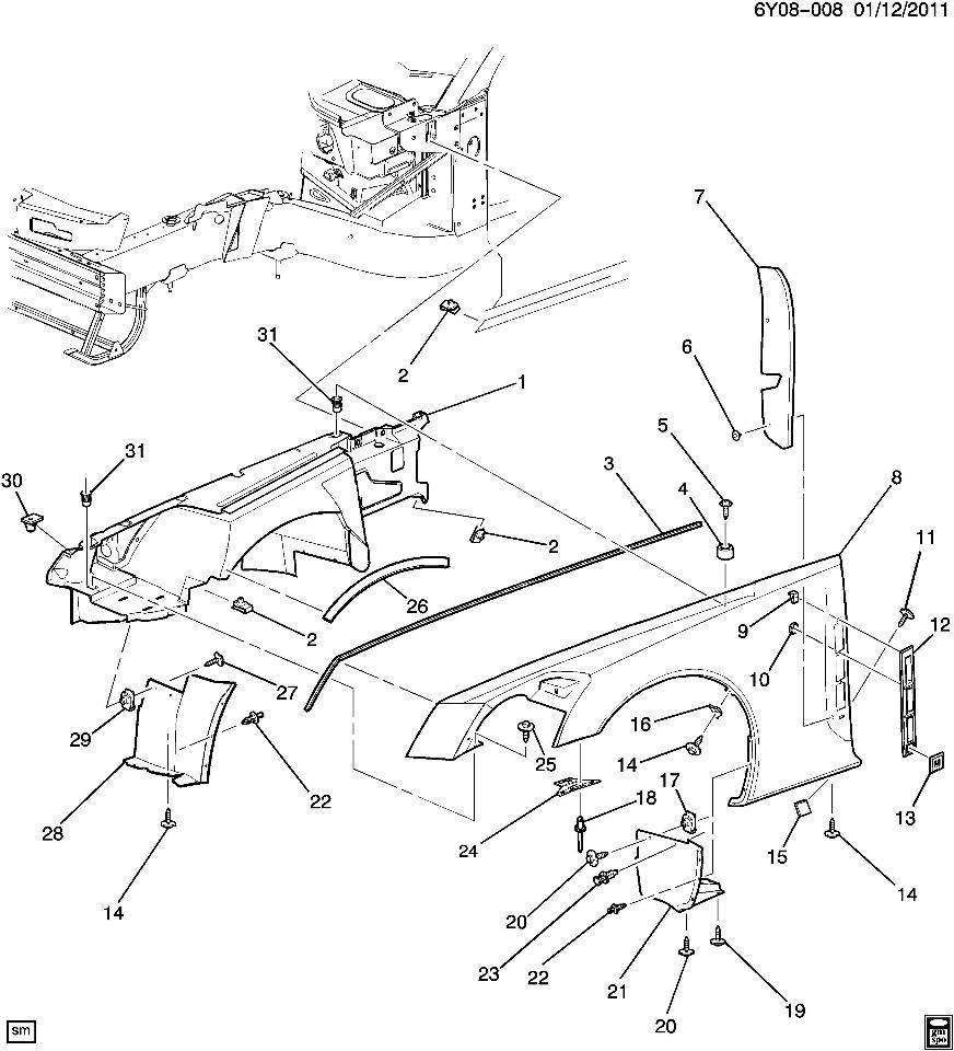 2009 Cadillac Xlr Camshaft: Cadillac XLR Front Bumper Support Left LH OEM New 25844511
