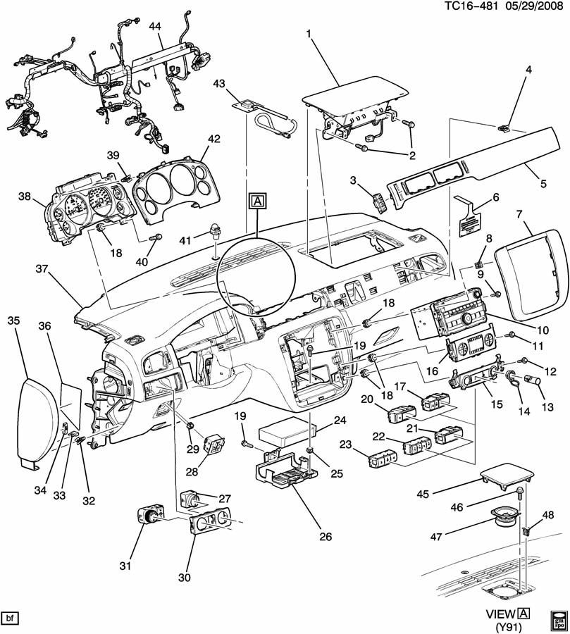 2009 Silverado Dash Diagram