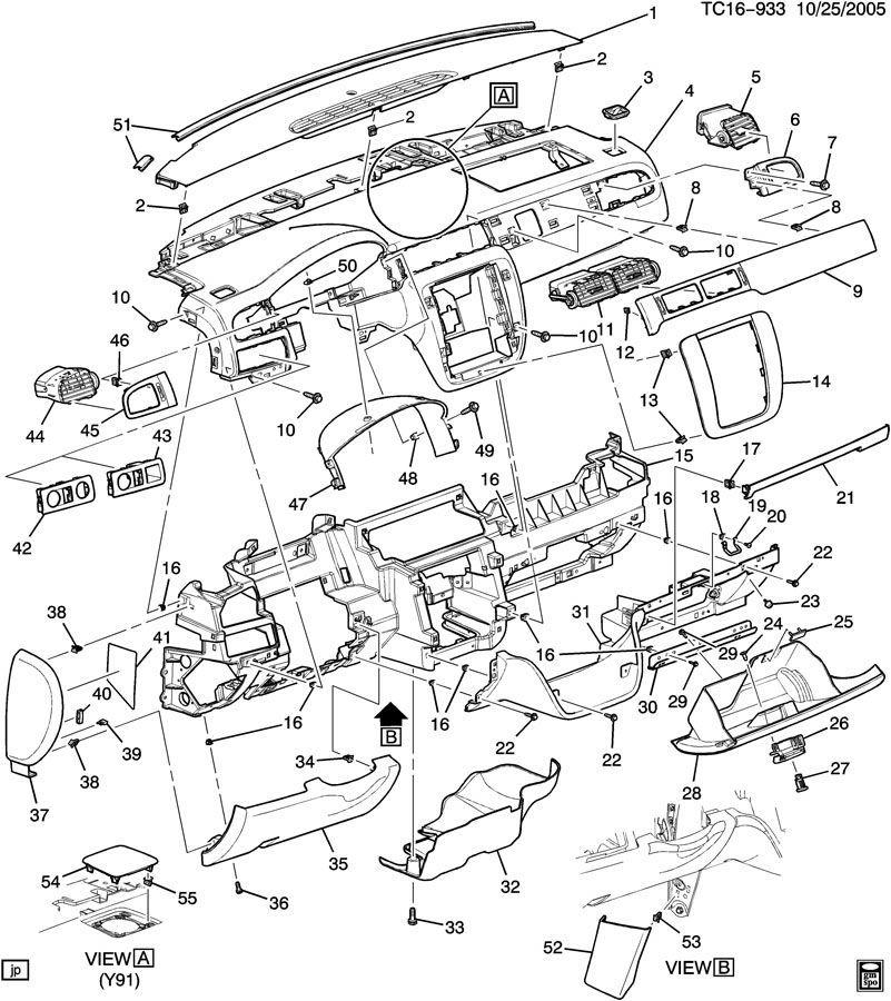 2008 Gmc Parts Diagram General Wiring Diagrams View A View A Leinivbc It