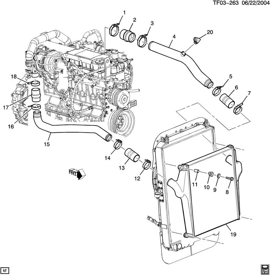 Gm T Bolt Intake Clamp Heavy Duty 256 28765 73mmnew Oem Car Parts Diagram