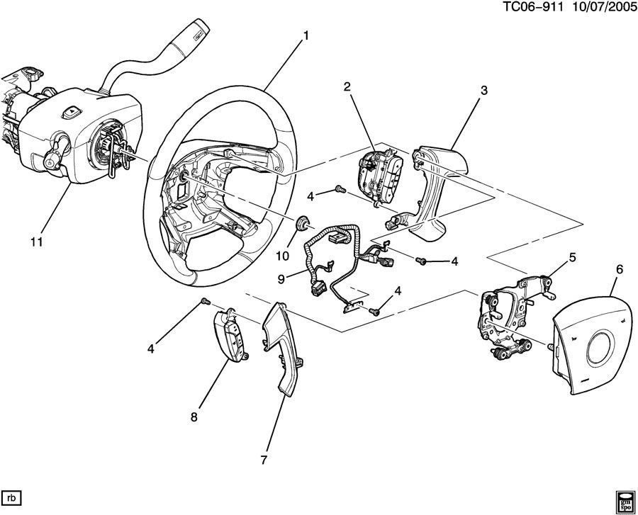 2009 2014 chevy traverse driver airbag titanium grey new. Black Bedroom Furniture Sets. Home Design Ideas