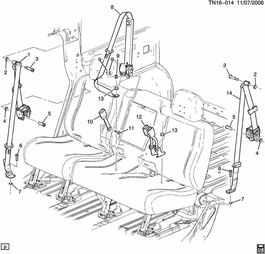 2005 2009 hummer h2 sut rh rear passenger side seat belt. Black Bedroom Furniture Sets. Home Design Ideas