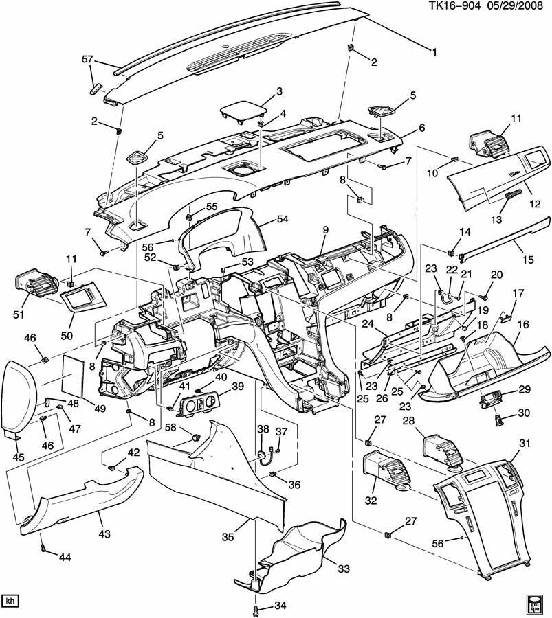 GM OEM Escalade Cadillac DTS Glove Box Latch Light Linen