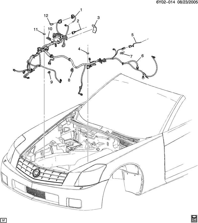 [DIAGRAM_38IU]  2009 Cadillac XLR Front Headlamp Signal Lamp Wiring Harness Export 25901079  | Factory OEM Parts | Cadillac Xlr Wiring |  | Factory OEM Parts