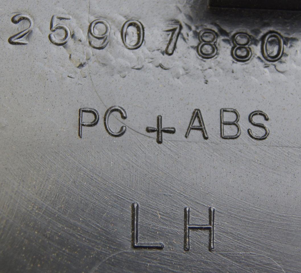 2008 2009 Hummer H2 Interior Fuse Box Cover Lh Ebony Black New H3 25907881 25818887