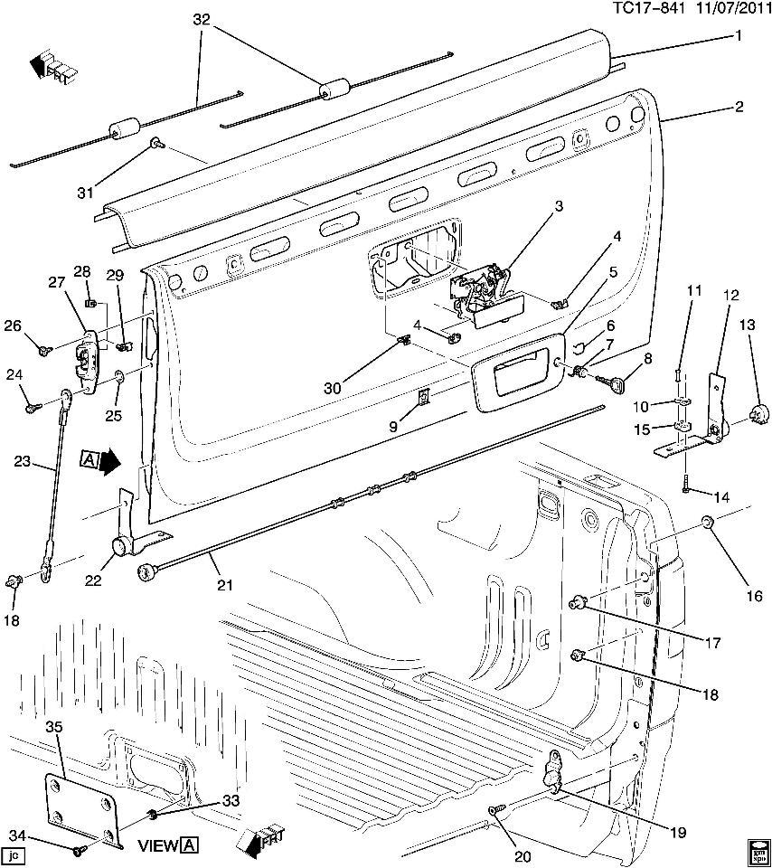 2007-2016 gm silverado sierra tailgate latch (fits lh & rh) new oem