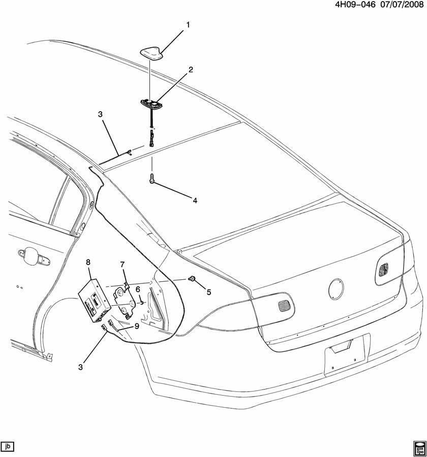 2009-2011 Buick Lucerne Roof Antenna Cover Tiara Tan Metallic New OEM 25980836