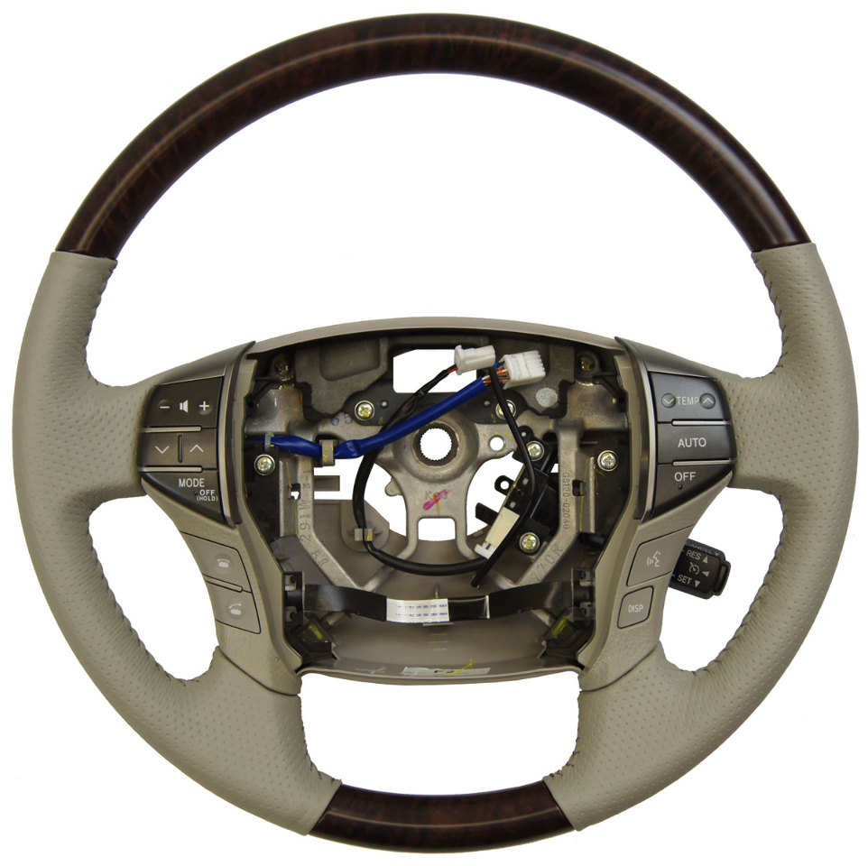 2011-2012 Toyota Avalon Steering Wheel Grey Leather W/Woodgrain New 4510007370B0
