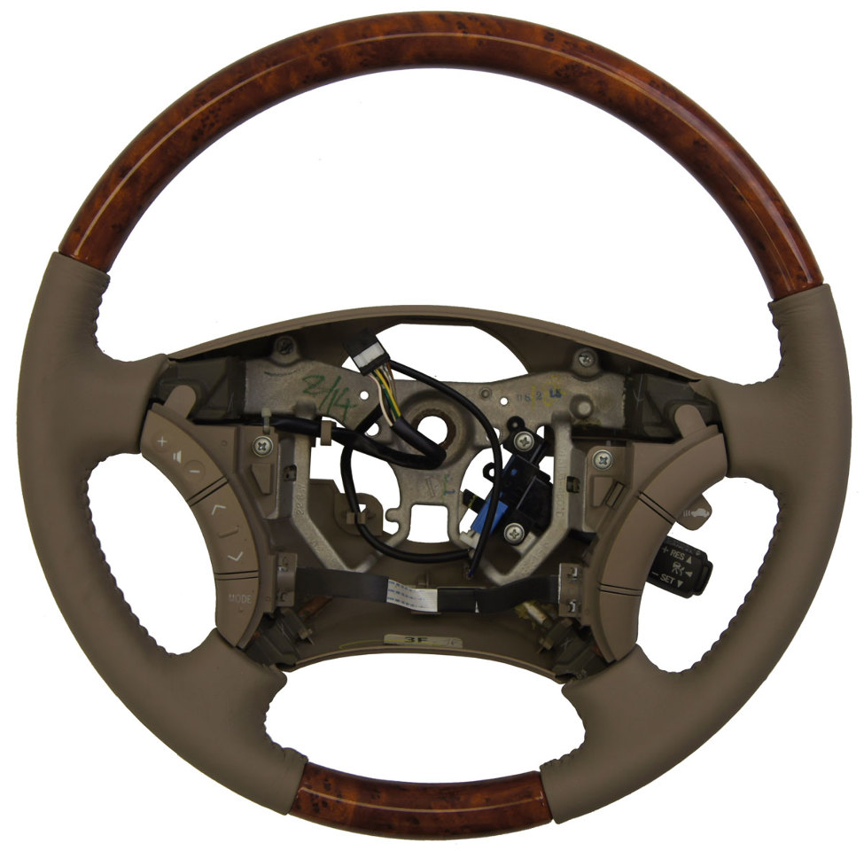 2006-2010 Toyota Sienna Steering Wheel Fawn Tan Leather W/Wood New 4510008131E1