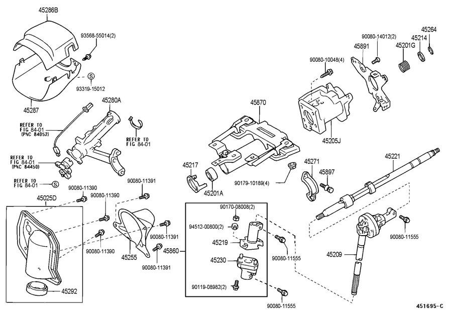 2000 03 Toyota Tundra Lower Steering Column Trim Dark Charcoal New 452870c043b0 Factory Oem Parts