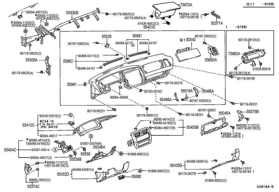 1995 1997 toyota avalon passenger side dash trim cover. Black Bedroom Furniture Sets. Home Design Ideas