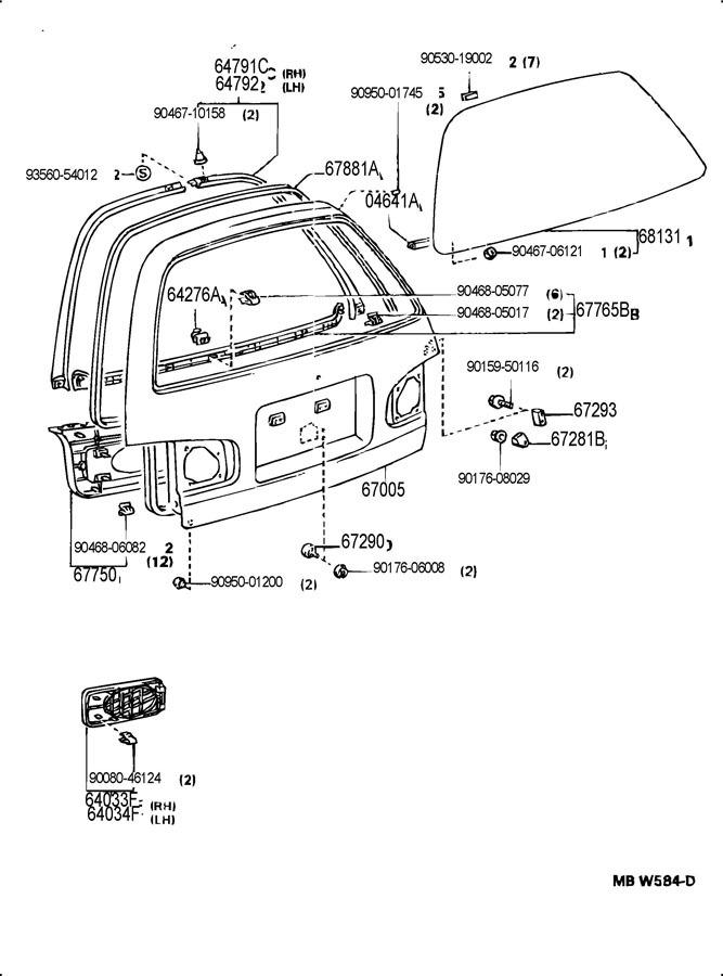 1992-1996 Toyota Camry Rear Right Speaker Grille Oak Brown New OEM 6403306030E0