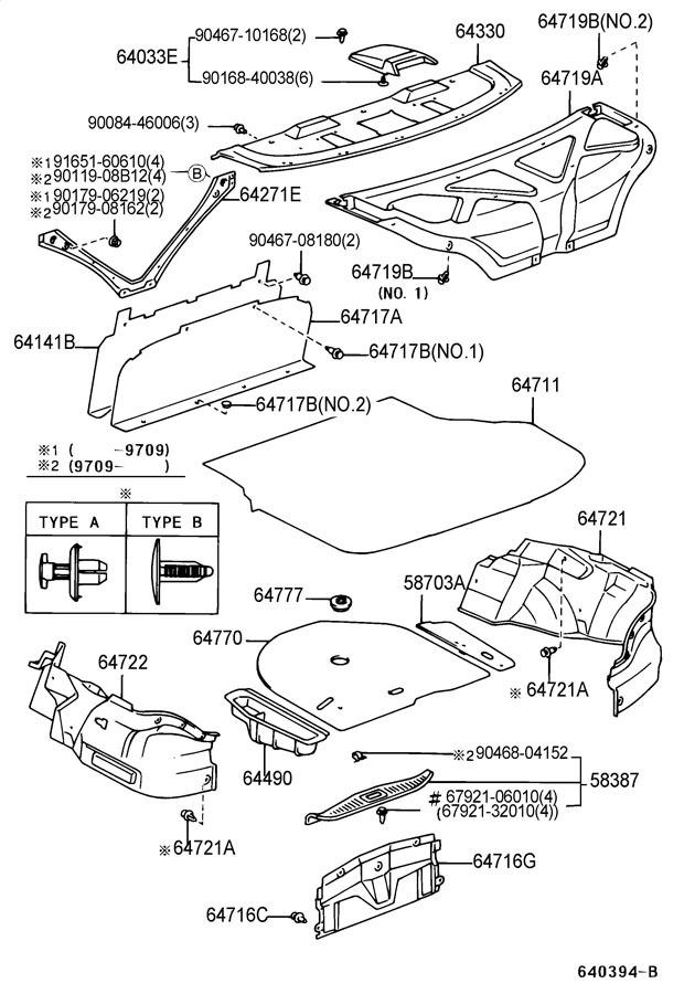 1998 1999 Toyota Avalon Center 3rd Brake Light Speaker Grill New 64033ac010e6