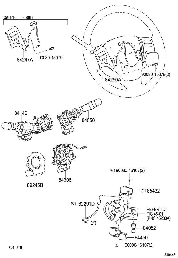 2011 2013 Toyota Corolla Matrix Steering Wheel Switch Assy New Oem